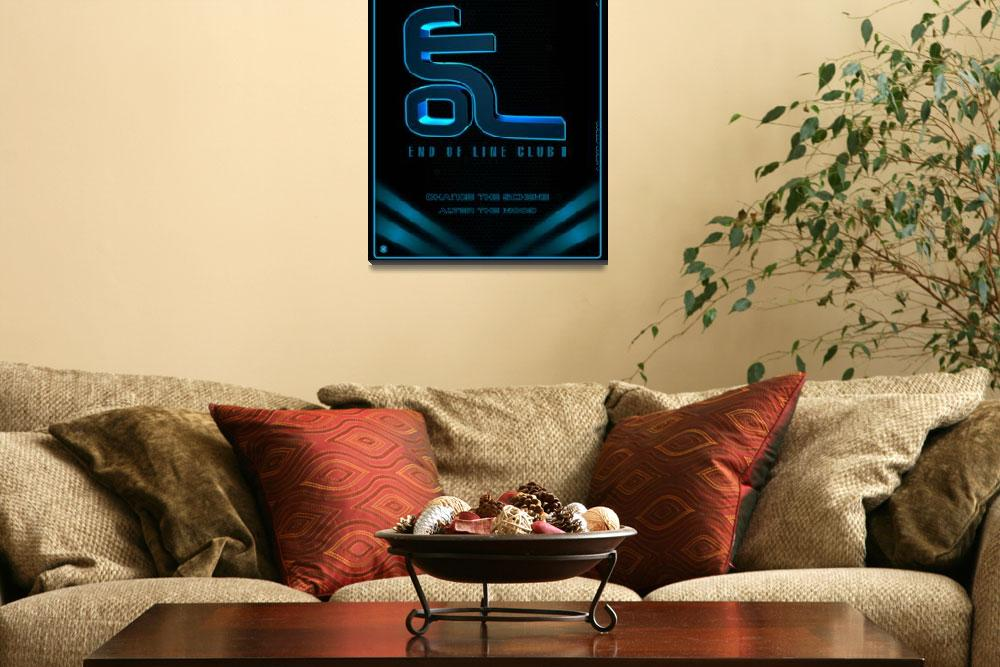 """""""Tron Legacy End of Line Club Poster""""  (2011) by Interstait"""