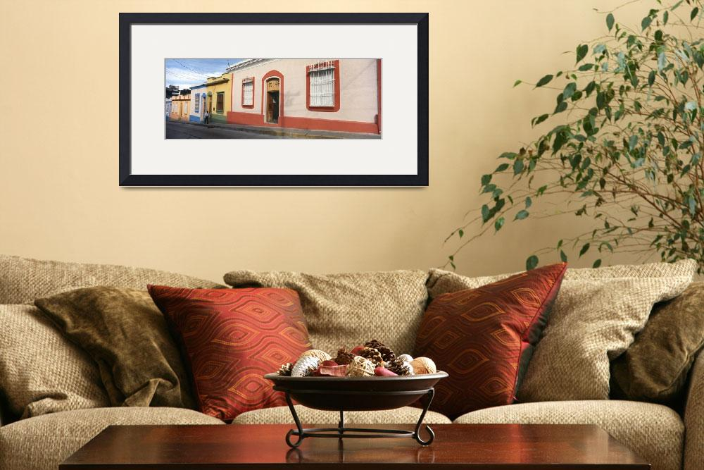 """""""Houses along a street Merida Merida State Venezue&quot  by Panoramic_Images"""