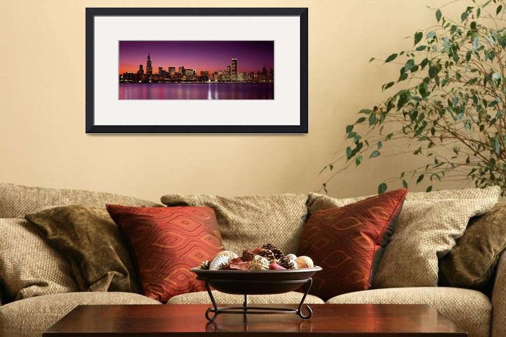 """""""Chicago, IL at dusk&quot  by IK_Stores"""