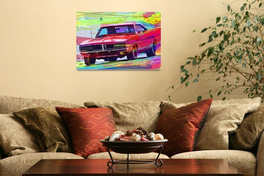 """1969 Dodge Charger Hemi""  (2012) by DavidLloydGlover"