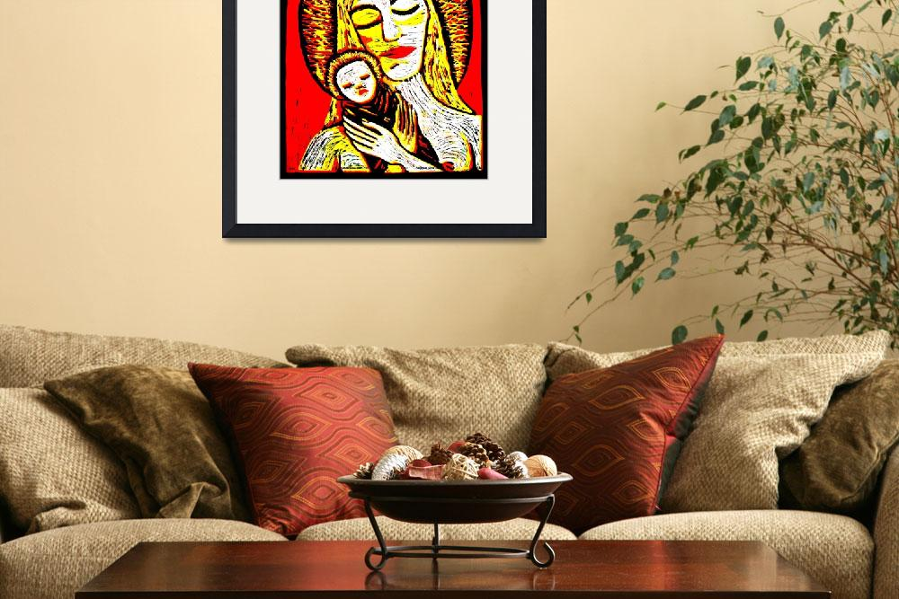 """""""MADONNA AND CHILD&quot  by loriellenew"""