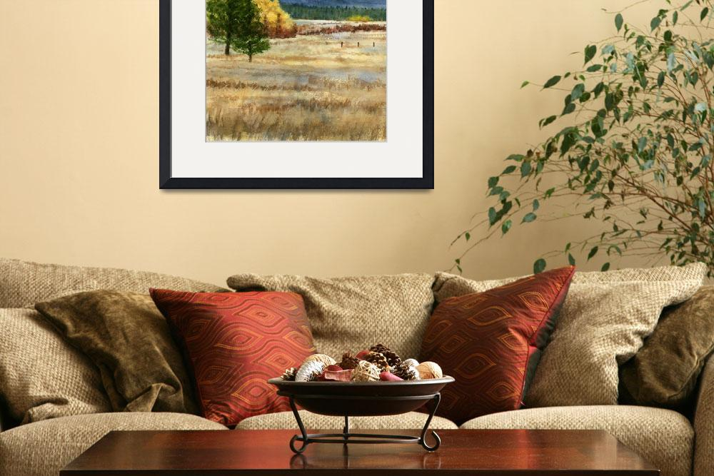"""""""Mt. Adams with Autumn Colors (vertical design)&quot  (2013) by Pacific-NW-Watercolors"""