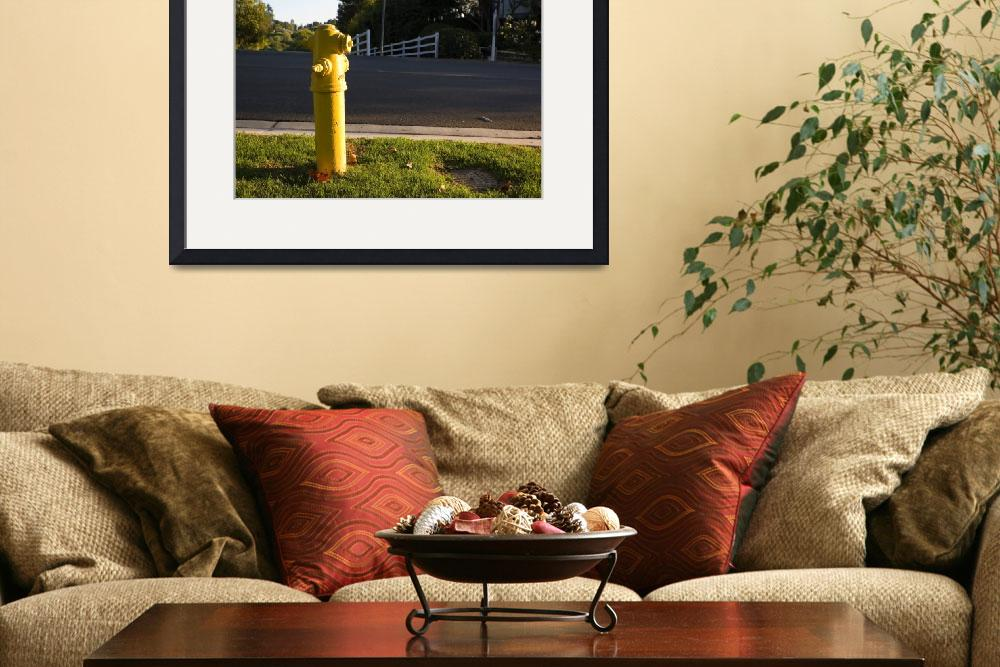 """yellow hydrant&quot  by andrewsmith"
