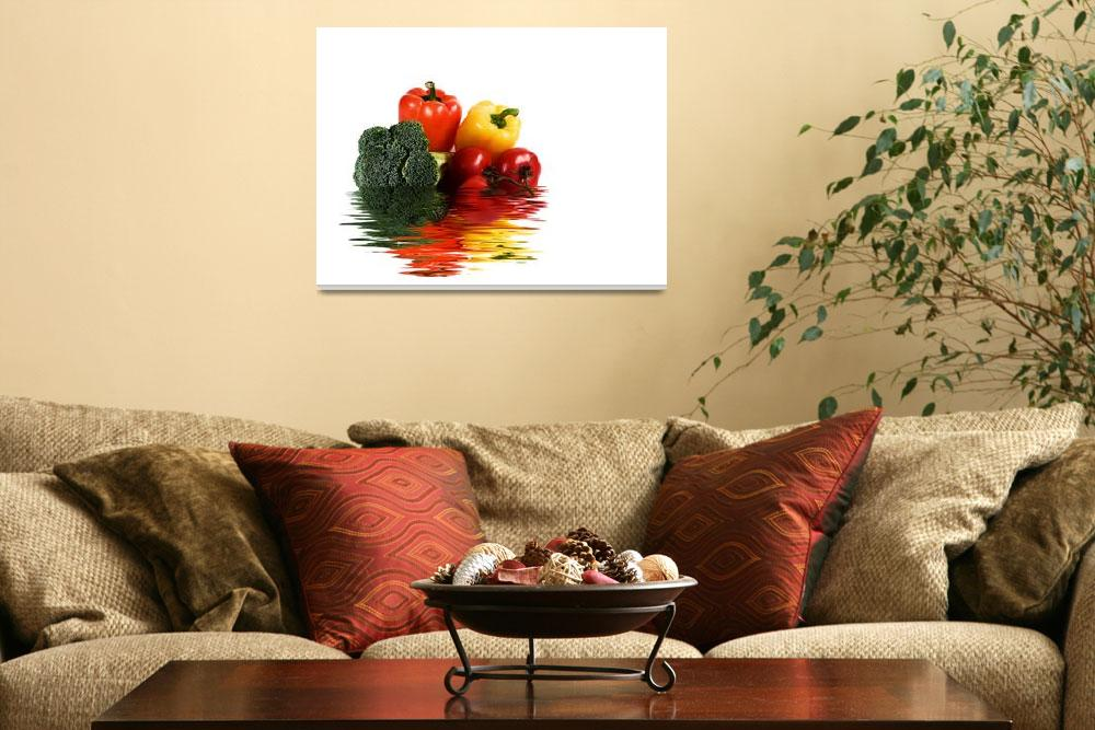 """""""Veggies in Water&quot  (2007) by sherryk"""