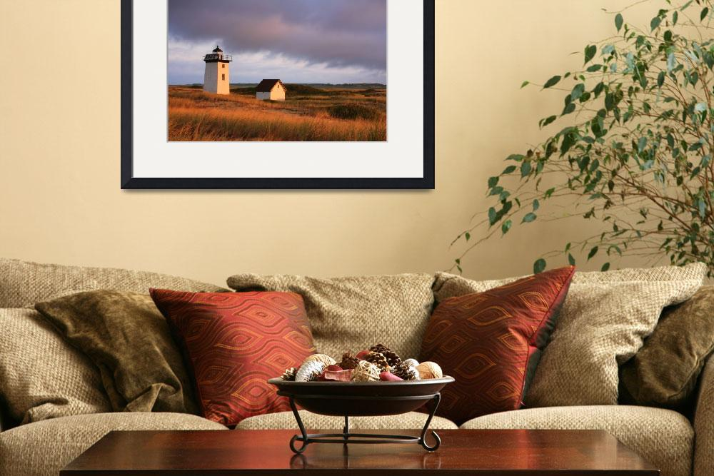 """""""Wood End Lighthouse, Cape Cod National Seashore,""""  (2012) by RoupenBaker"""