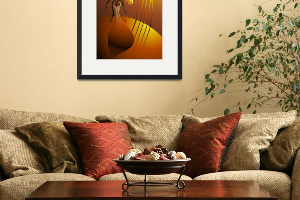 """""""Flowers in a flower vase&quot  (2009) by digitalpainting"""