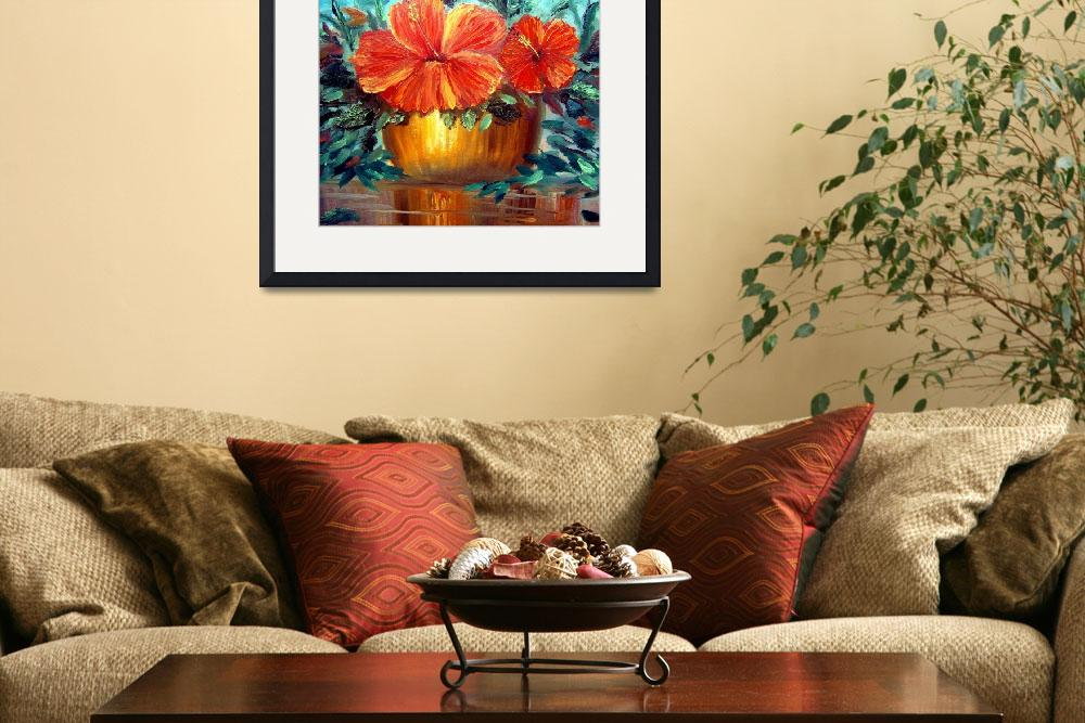 """""""Hibiscus Painting&quot  (2009) by mazz"""