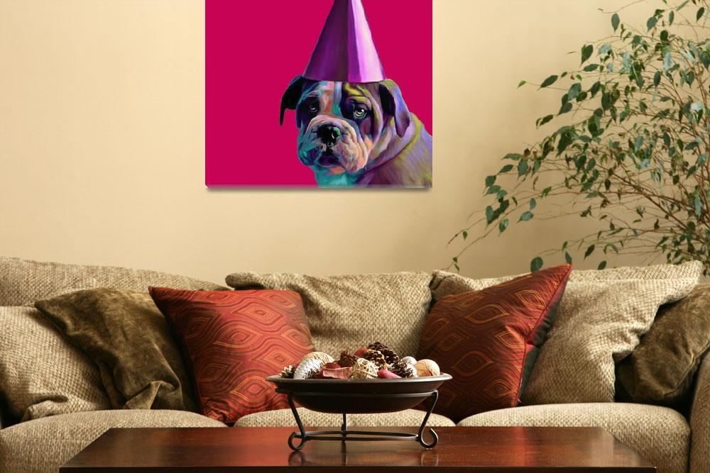 """""""Pink Birthday Pup&quot  (2012) by houseofjennifer"""