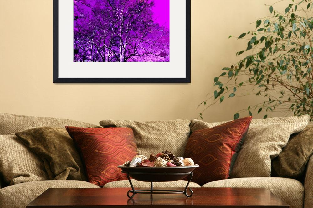 """PURPLE TREES&quot  (2008) by KENDALLEUTEMEY"