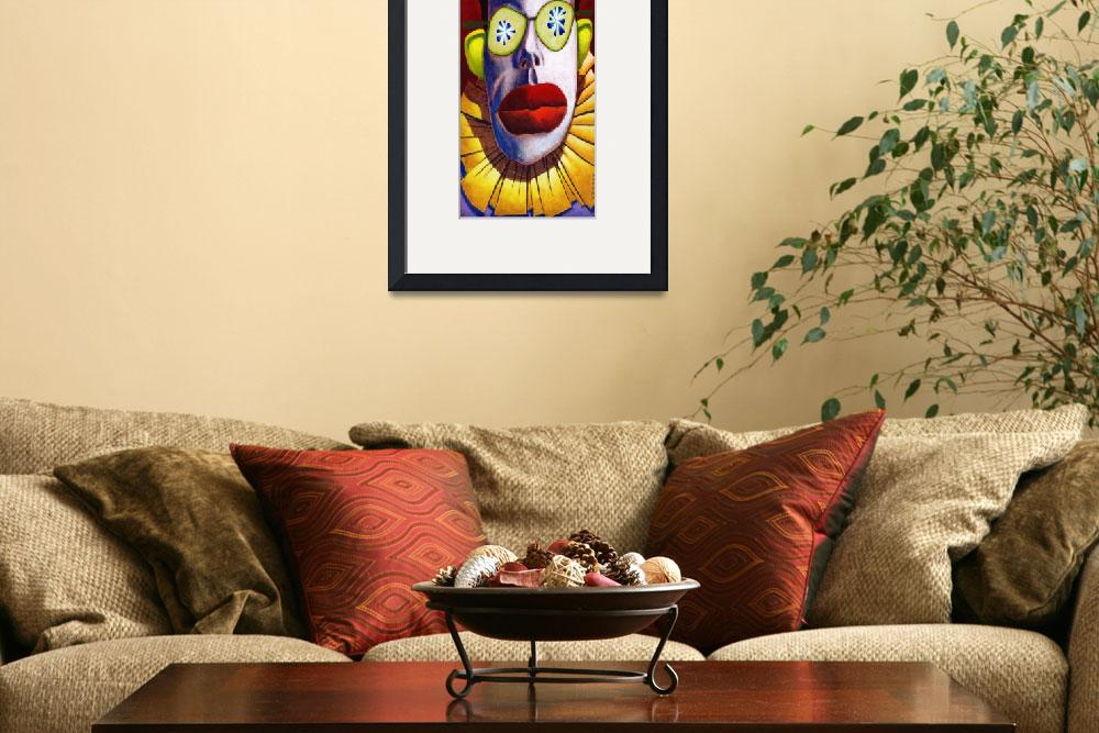 """""""Clown 8 x 20&quot  by MikeCressy"""