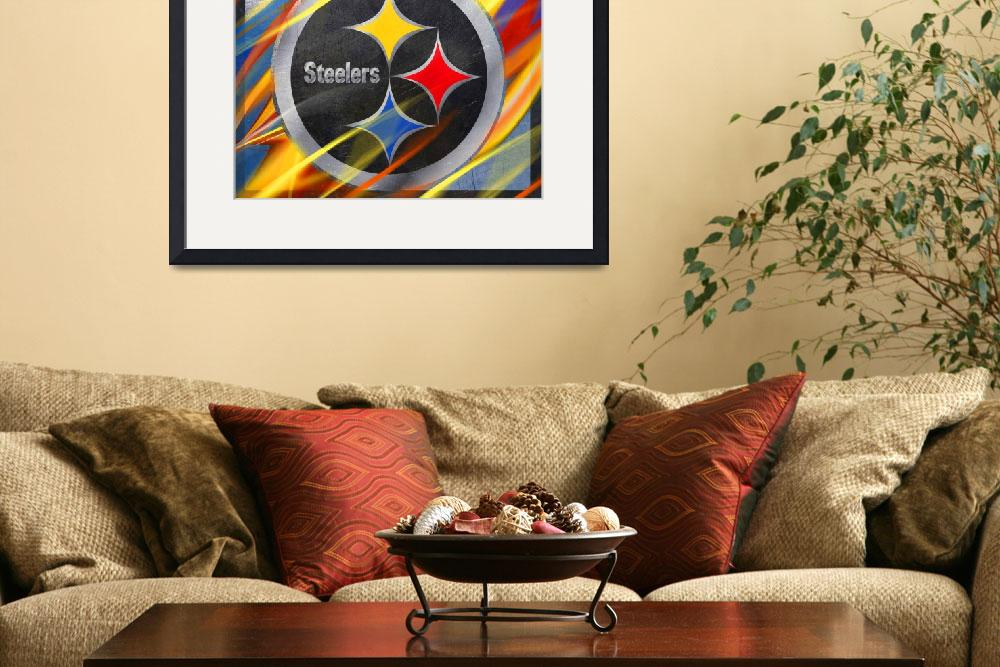 """""""Pittsburgh Steelers Football&quot  by RubinoFineArt"""