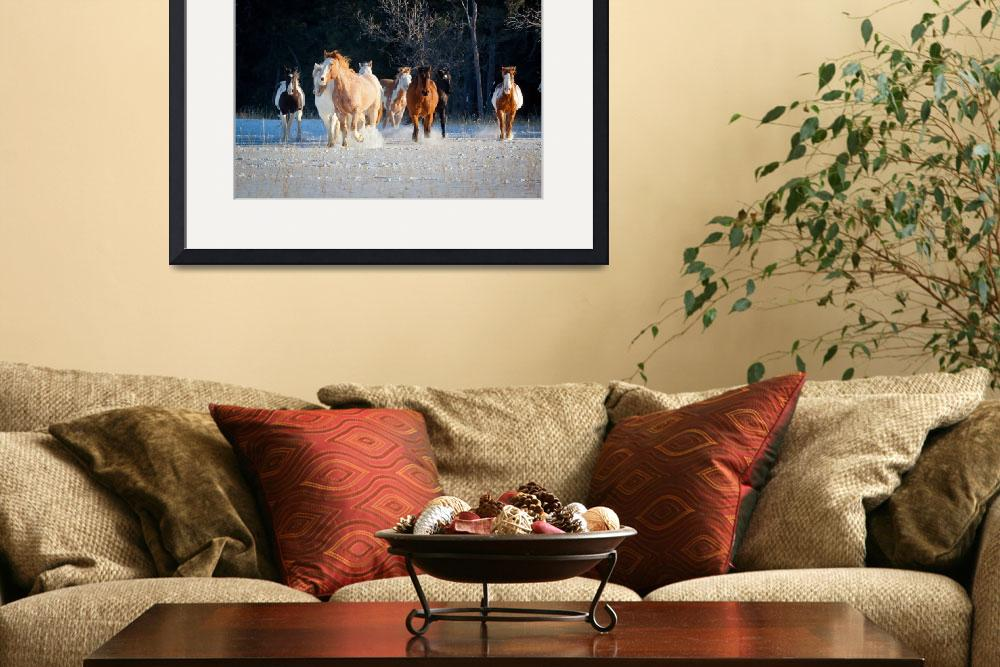 """""""Horses in snow""""  (2012) by Inge-Johnsson"""