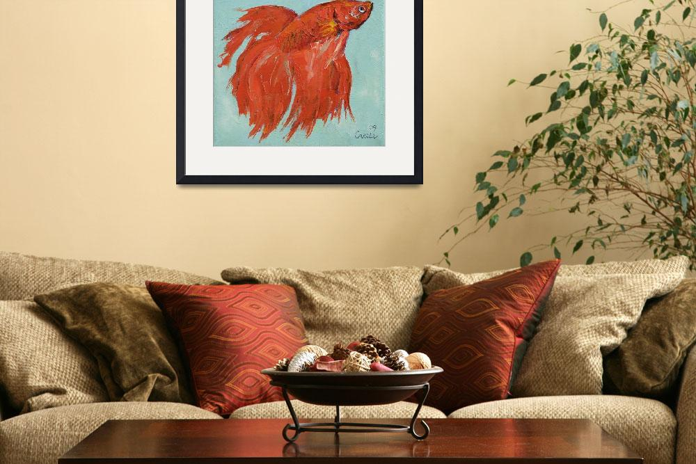 """Siamese Fighting Fish&quot  by creese"