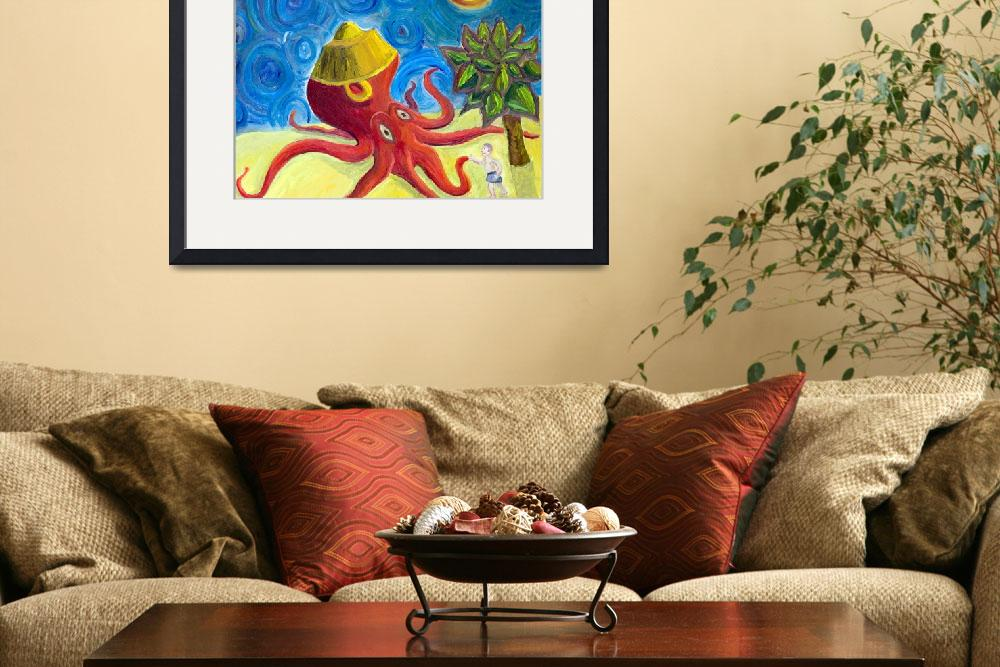 """""""Giant Octopus Wearing a Silly Hat&quot  (2010) by Rudy"""