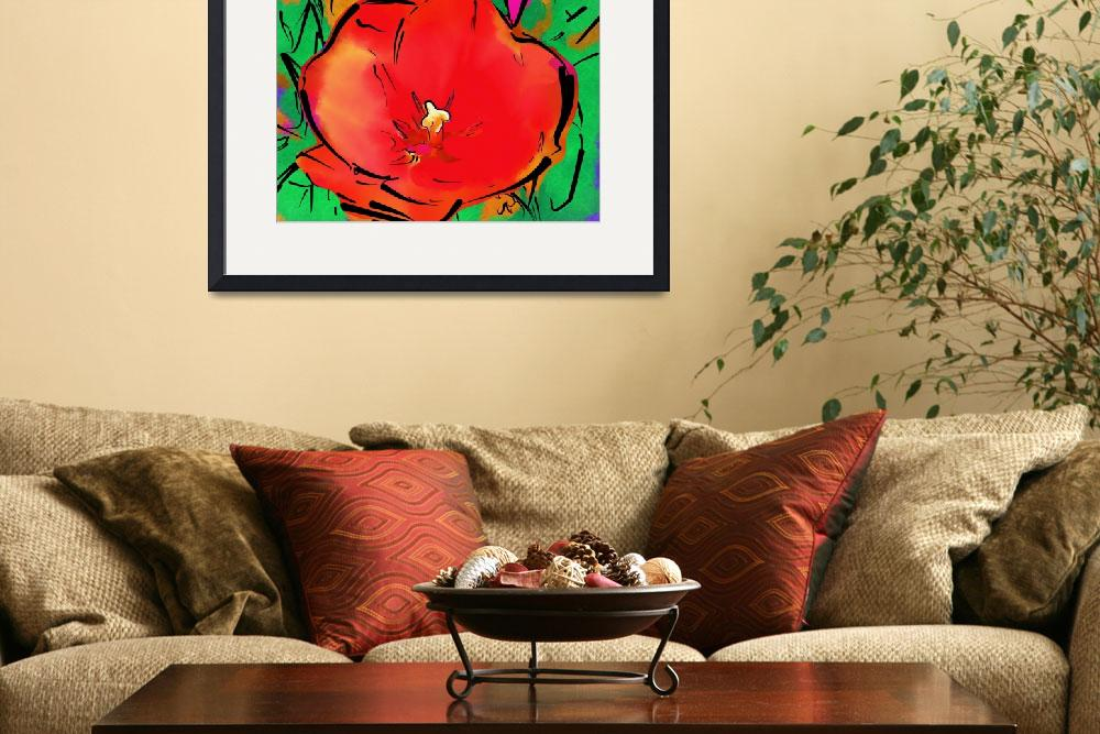 """""""Astral Red Bloom&quot  (2008) by petersart"""