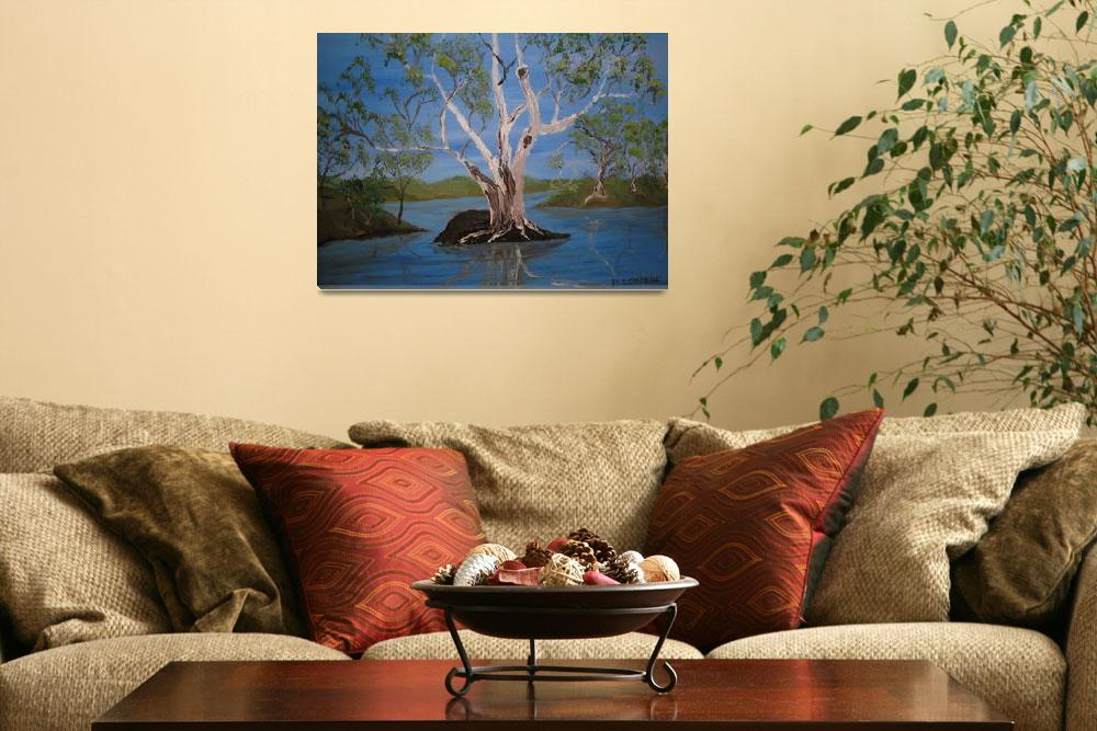 """""""White Gums by the River&quot  (2009) by artwrite"""