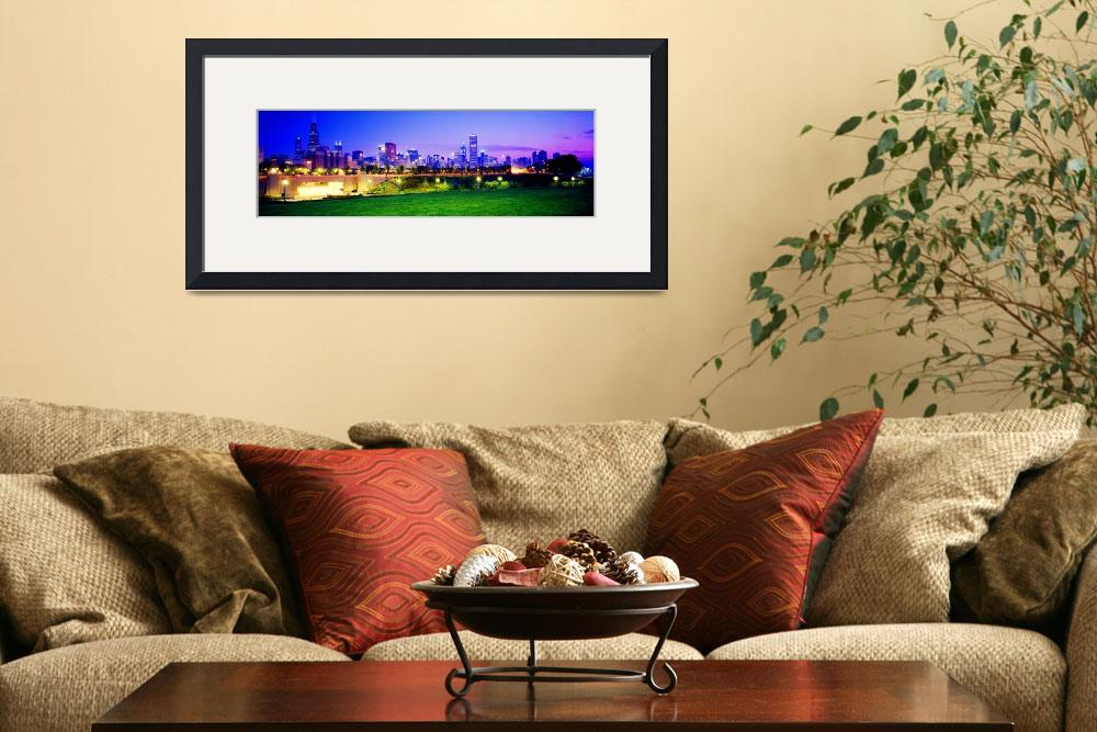 """Grant Park  and skyline&quot  (2001) by TomJelen"