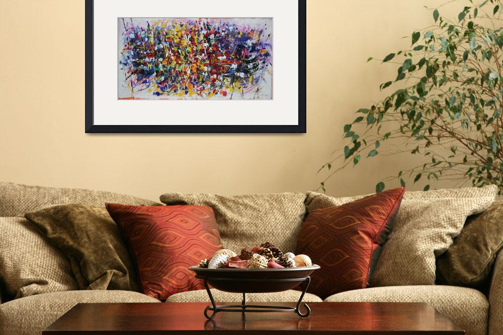 """""""Abstract flowers&quot  by zampedroni"""