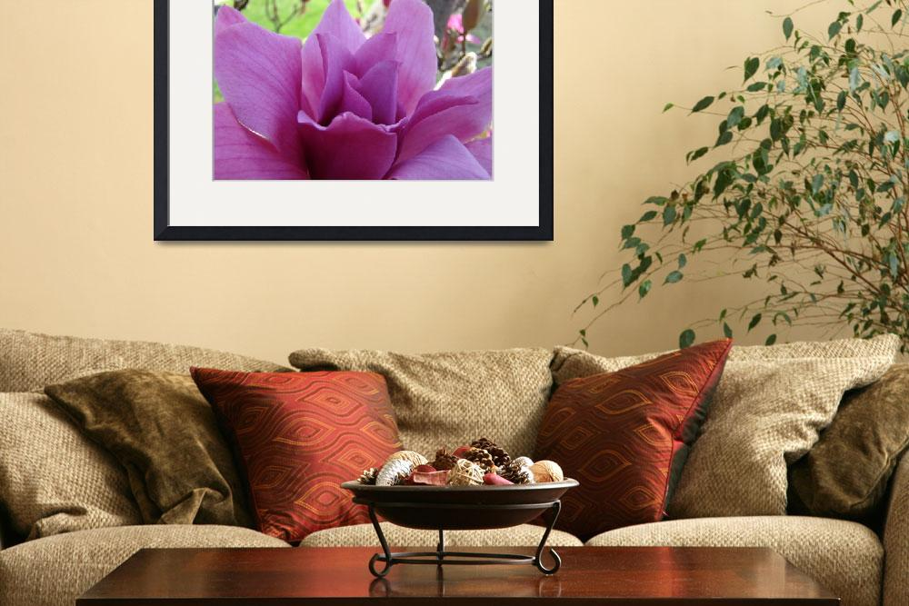 """""""Magnolia Flower Pink Art Spring Magnolia Tree&quot  by BasleeTroutman"""