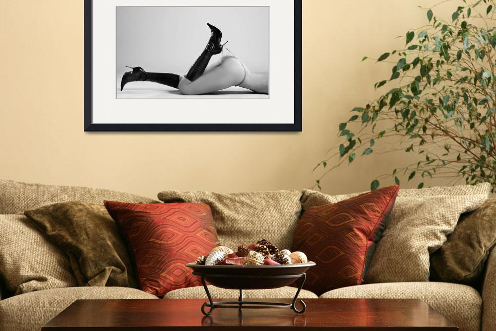 """""""beautiful naked nude with long boots and thong&quot  (2010) by baechlergallery"""