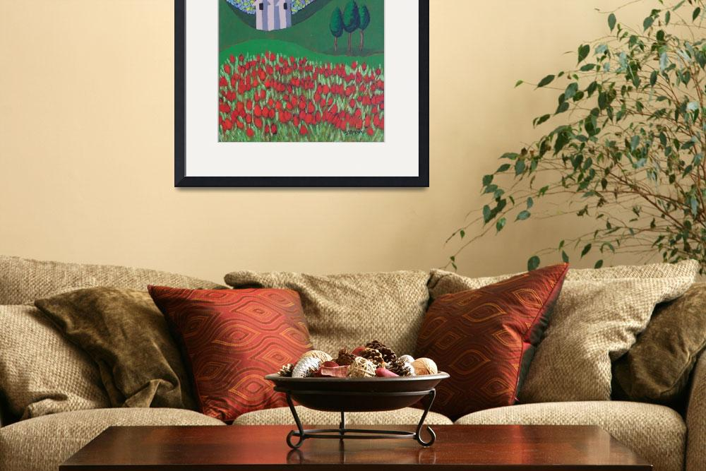 """""""The Red Tulip Garden&quot  (2011) by SteveStAmour"""