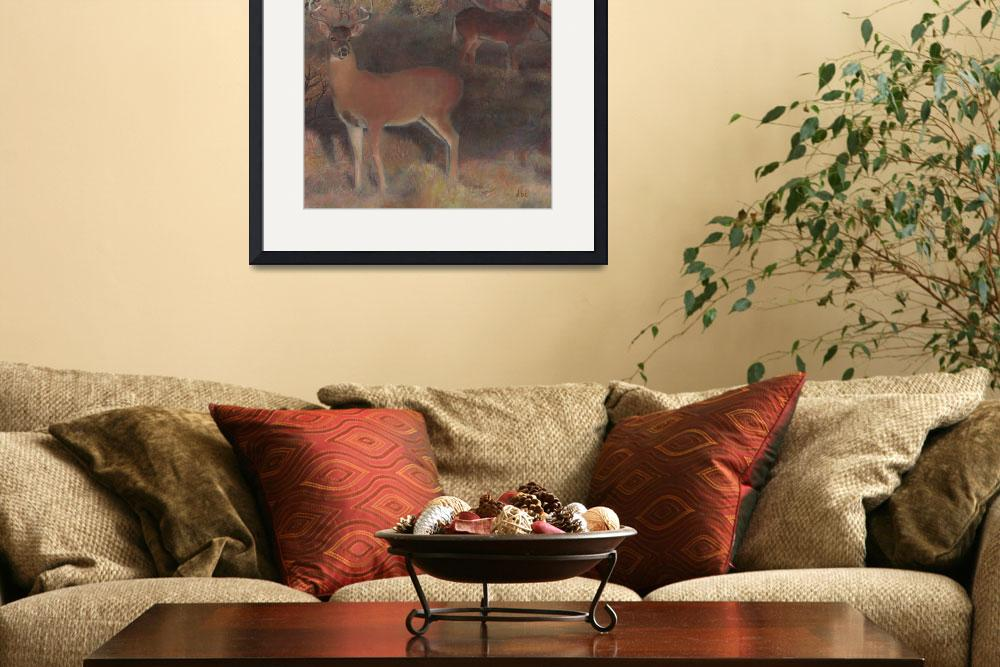 """""""Whitetail at Dusk""""  (2009) by DBCArtwork"""