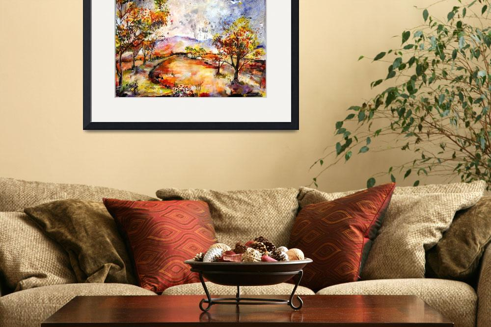 """Georgia Autumn Rainy Day&quot  (2007) by GinetteCallaway"