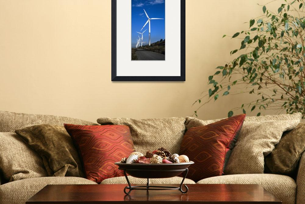 """""""Wind turbines at the roadside Provence Alpes Cote&quot  by Panoramic_Images"""