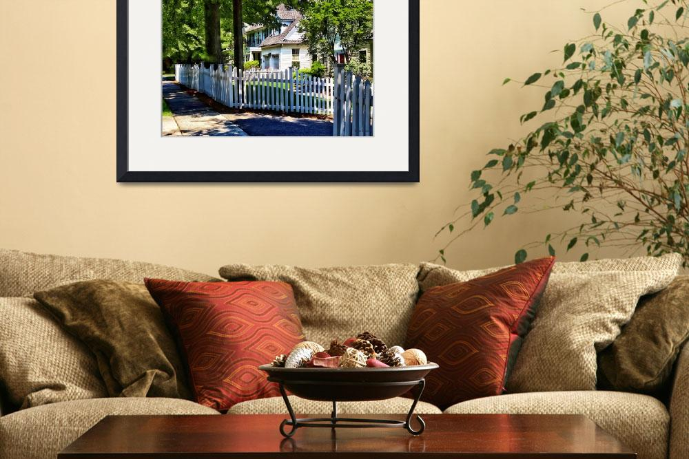 """White Picket Fence&quot  by susansartgallery"