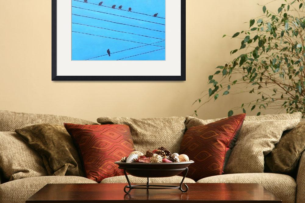 """Birds, Wires 6&quot  (2010) by irishkc"