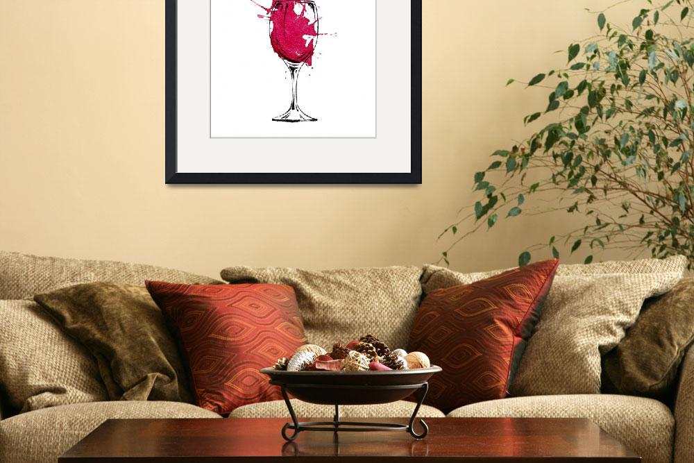 """""""Red Wine&quot  (2016) by k9artgallery"""