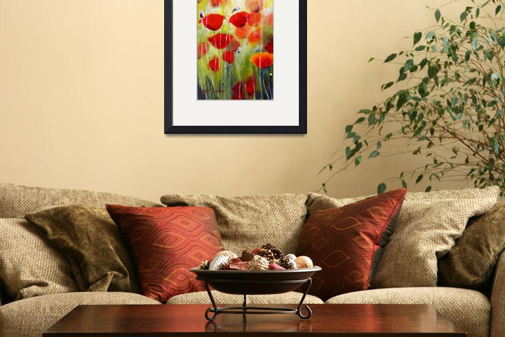 """Delicate Poppies&quot  (2010) by art-miri"