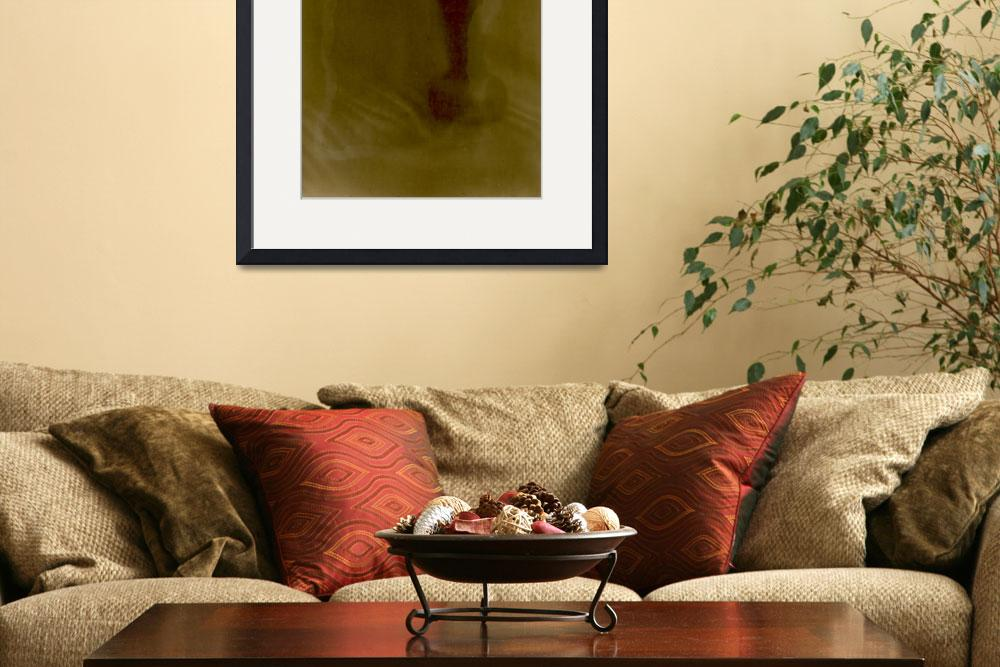 """""""chair leg red and gold sunprint&quot  (2014) by jnanian"""