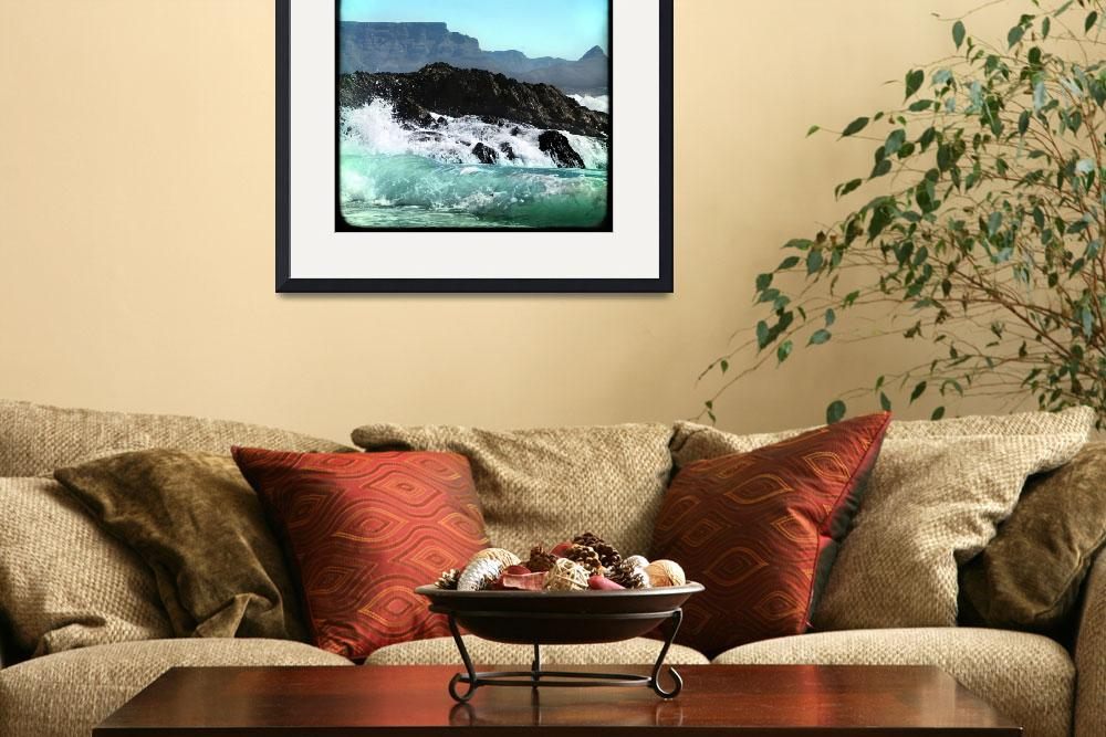 """""""Table Mountain Waves Crashing""""  (2007) by juliekruger"""