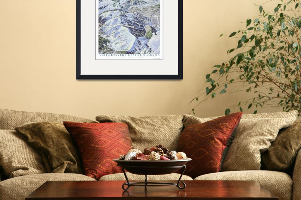 """""""Vail and Beaver Creek&quot  (1993) by jamesniehuesmaps"""