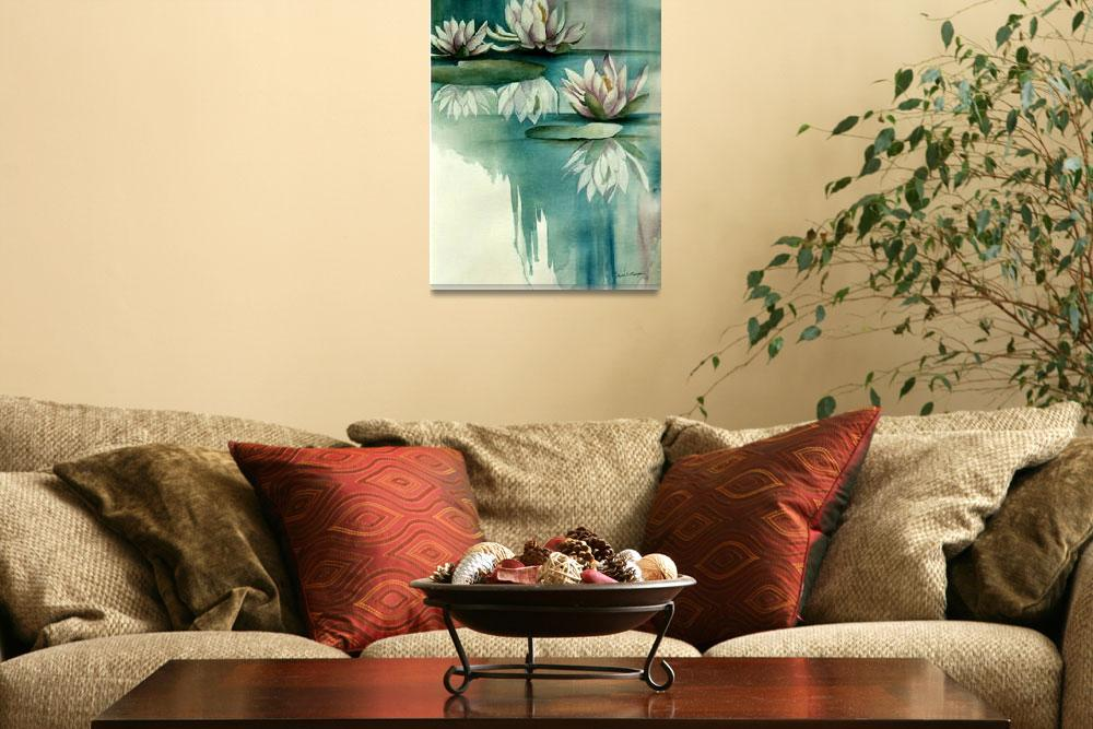 """""""Mirrored Lilies&quot  (2003) by JMMorgan"""