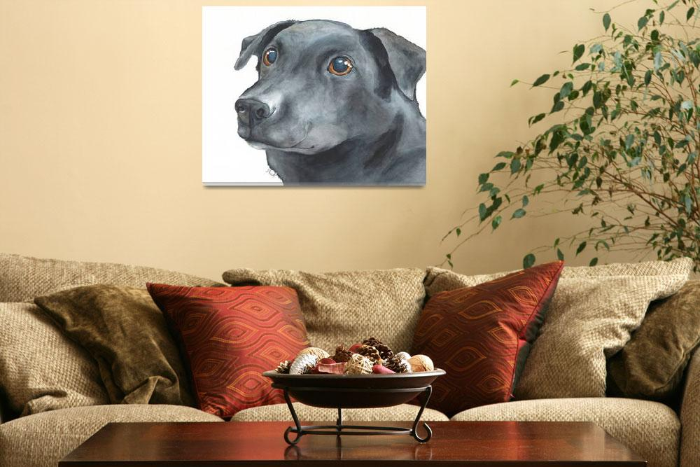 """""""Embry the Gourmet Gobbler Lab Mix""""  (2014) by Designomel"""