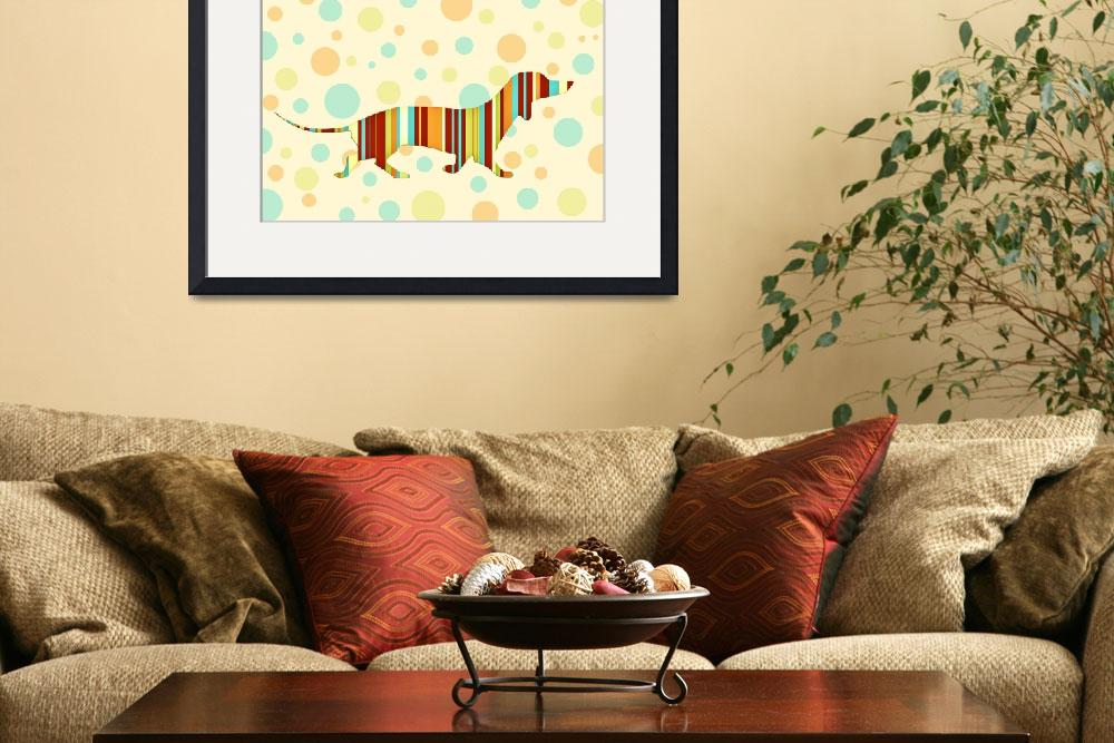 """""""Dachshund Fun Colorful Abstract&quot  (2013) by NatalieKinnear"""