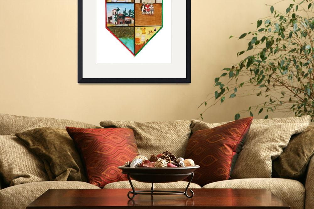 """""""Erongaricuaro town crest, white background&quot  by BrianFey"""