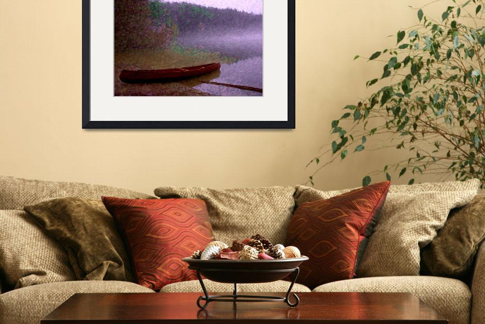 """""""Pass Lake Canoe Painting&quot  by gopnw"""