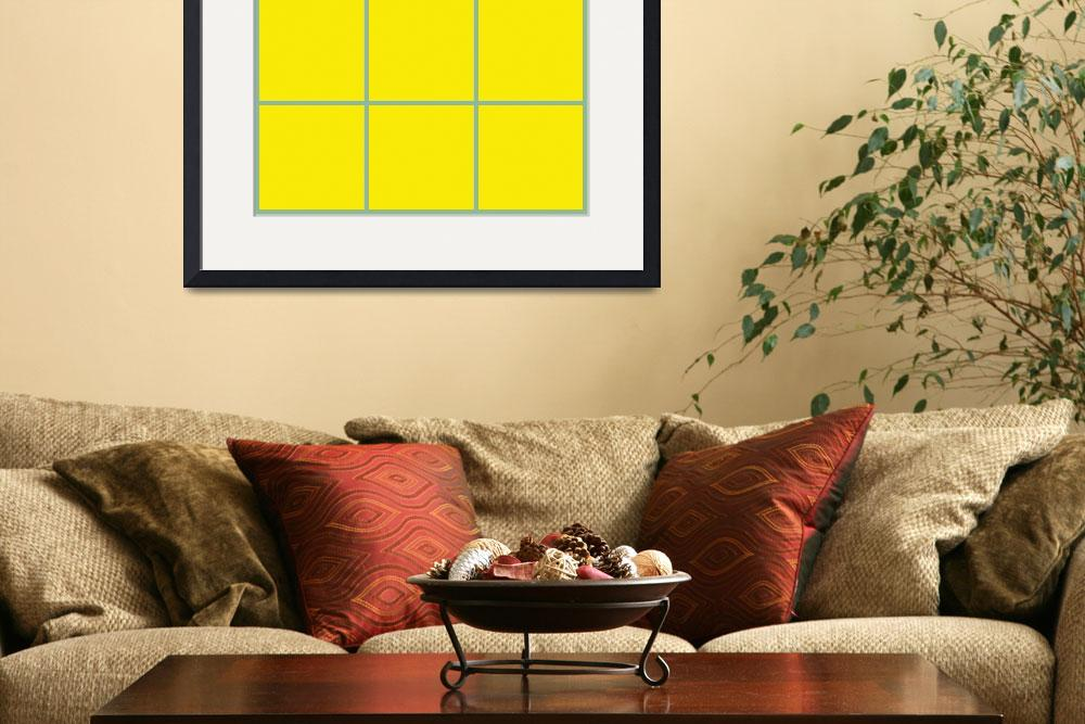 """""""Yellow Window 095 Canvas Contemporary Modern&quot  (2010) by Ricardos"""
