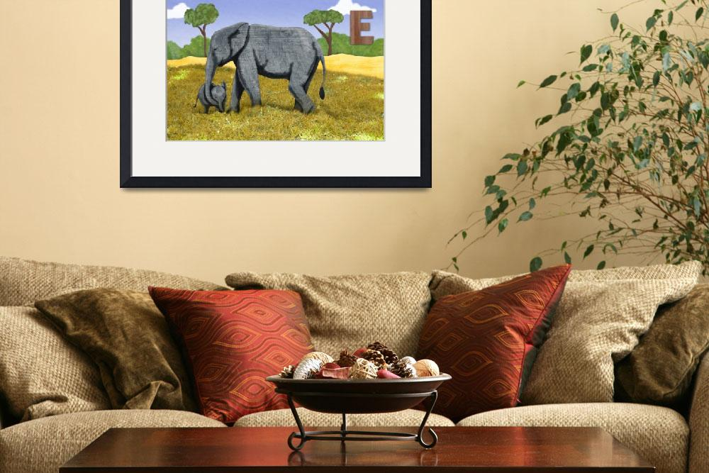 """""""elephant family&quot  (2011) by nmillerillustration"""