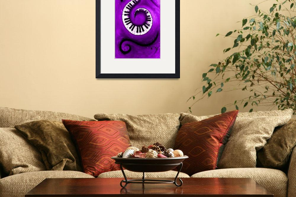 """""""Purple - Swirling Piano Keys - Music In Motion&quot  by waynecantrell"""