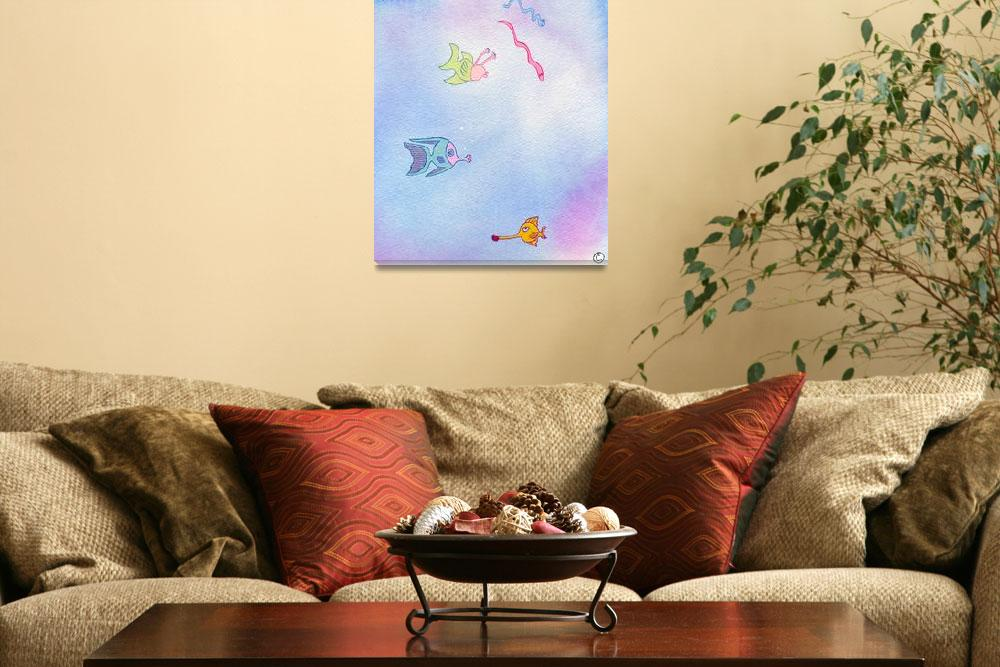 """""""Outer Space Fish&quot  by campichej"""