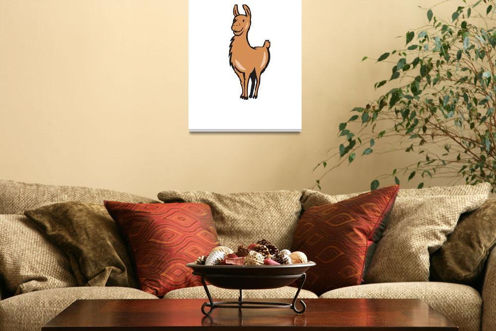 """Llama Cartoon""  (2014) by patrimonio"
