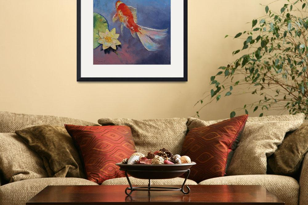 """""""Koi on Blue and Mauve""""  by creese"""