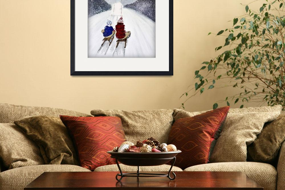 """""""snow storm painting - christmas card&quot  by Spangles44"""
