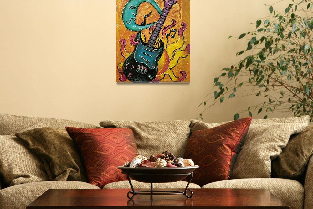 """Celestial Guitar&quot  (2014) by ArtPrints"