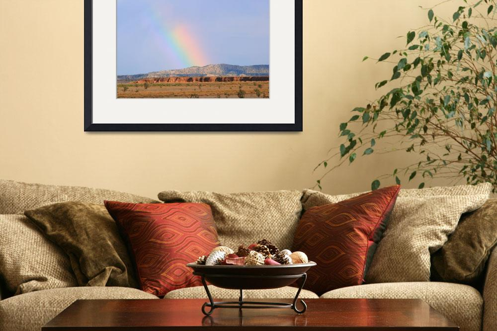 """Rainbow over Sandias&quot  (2008) by Nathaniel_Earley"