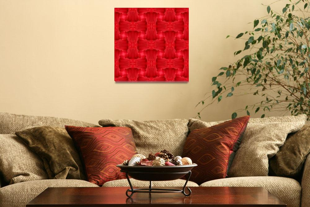 """""""Woven Red Frill""""  by JaZilla"""